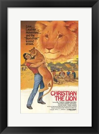 Framed Christian the Lion Print