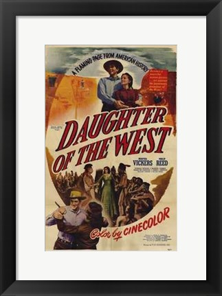Framed Daughter of the West Print