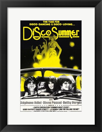 Framed Disco Summer Print