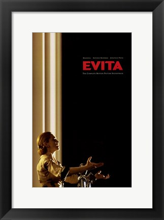 Framed Evita Singing Print