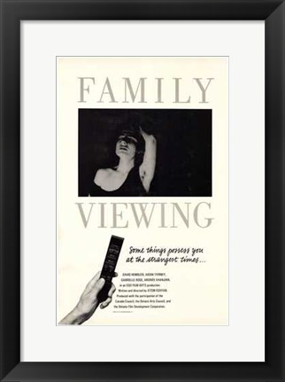 Framed Family Viewing Print