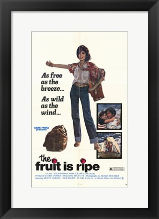 Framed Fruit is Ripe Print