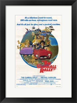 Framed Gumball Rally Print