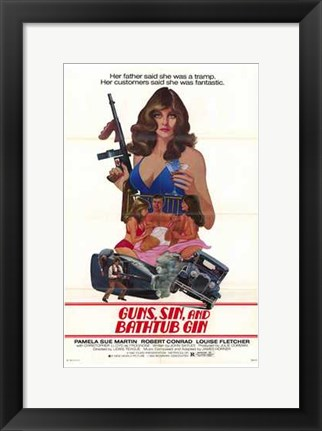 Framed Guns  Sin and Bathtub Gin Print