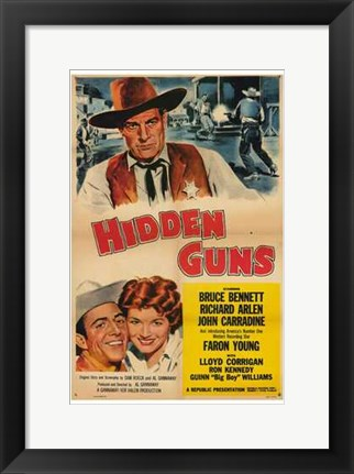 Framed Hidden Guns Print