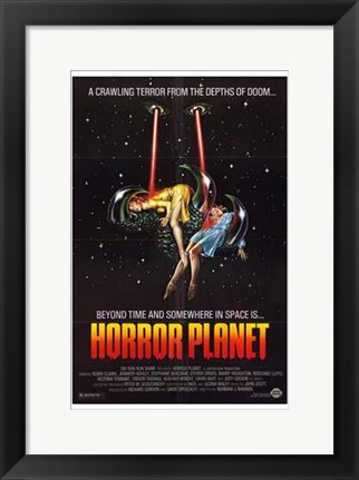 Framed Horror Planet Print