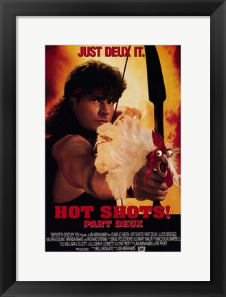 Framed Hot Shots Part Deux Print