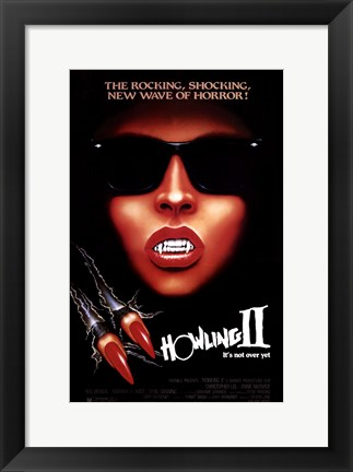 Framed Howling 2: Your Sister is a Werewolf Print