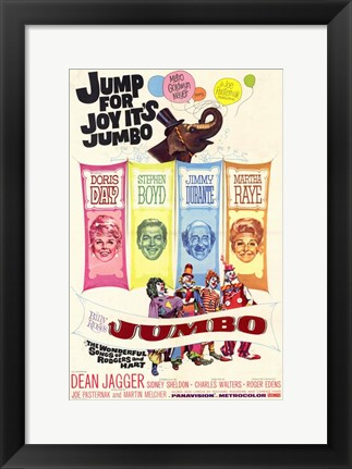 Framed Jumbo The Movie Print