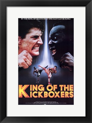 Framed King of the Kickboxers Print