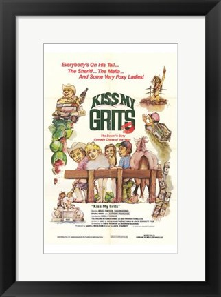 Framed Kiss My Grits Print