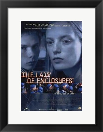 Framed Law of Enclosures Print