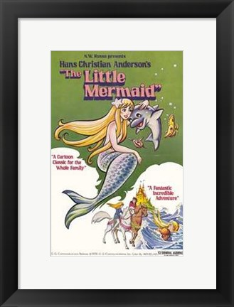 Framed Little Mermaid Print