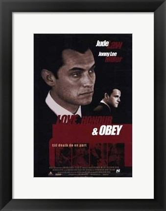 Framed Love  Honour and Obey Print