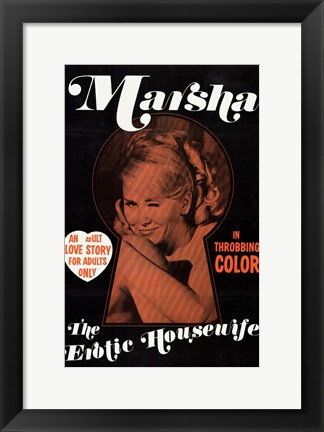 Framed Marsha the Erotic Housewife Print