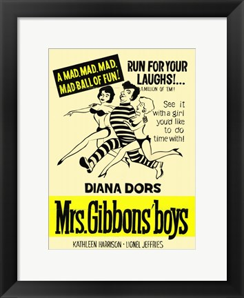 Framed Mrs Gibbons' Boys Print