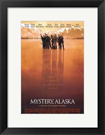 Framed Mystery Alaska Red Hue Hockey Print