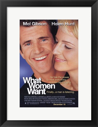 Framed What Women Want Print