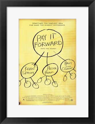 Framed Pay it Forward Helen Hunt Print