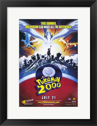 Framed Pokemon the Movie 2000: the Power of One Print