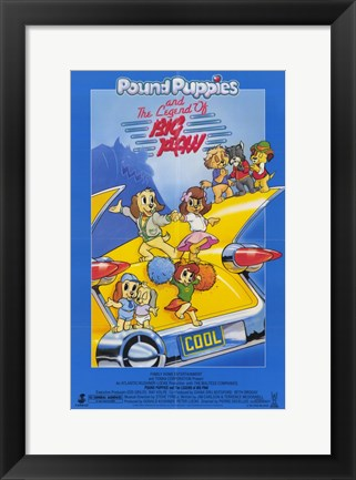 Framed Pound Puppies and Legend of Big Paw Print
