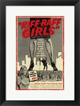 Framed Riff Raff Girls Print