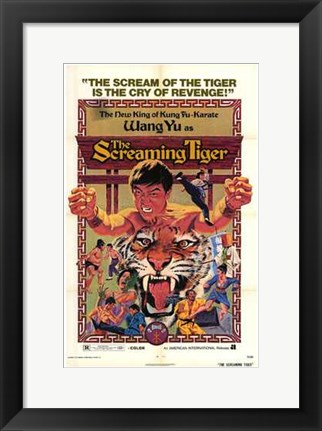 Framed Screaming Tiger Print
