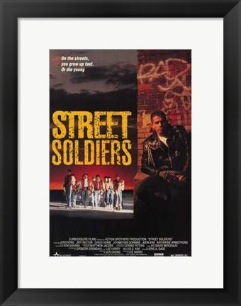 Framed Street Soldiers Print