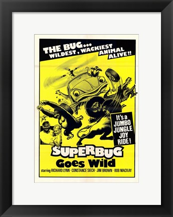 Framed Superbug Goes Wild Print