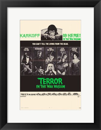 Framed Terror in the Wax Museum Print