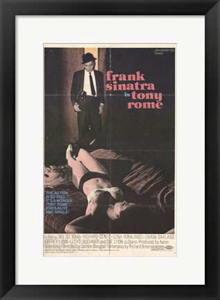 Framed Tony Rome (movie poster) Print