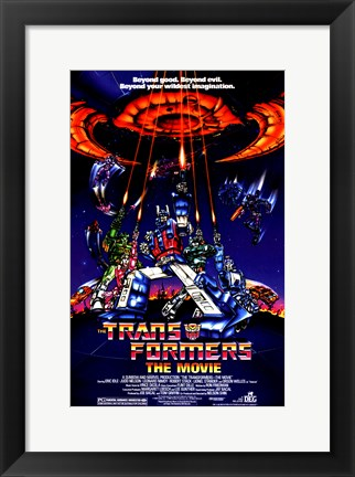 Framed Transformers: The Movie - style A Print