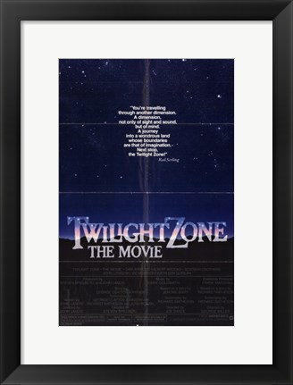 Framed Twilight Zone: the Movie Print