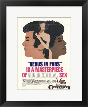 Framed Venus in Furs Print