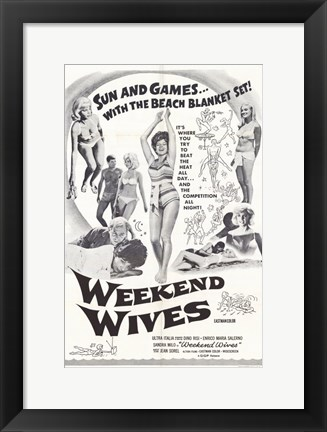 Framed Weekend Wives Print