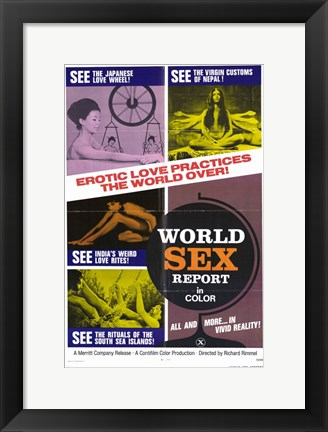 Framed World Sex Report Print