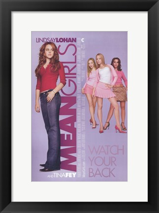 Framed Mean Girls Print