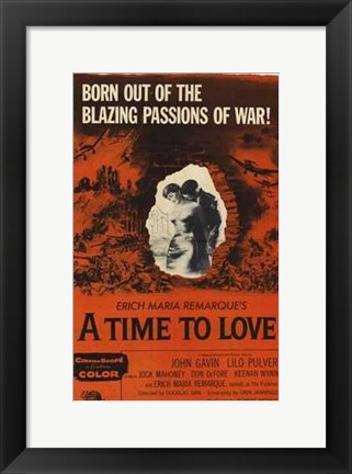 Framed Time to Love Time to Die Print