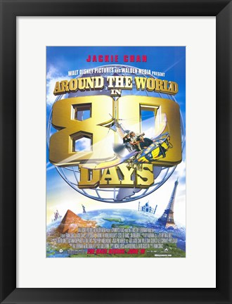 Framed Around the World in 80 Days Jackie Chan Print