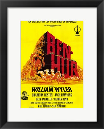 Framed Ben Hur Yellow Print