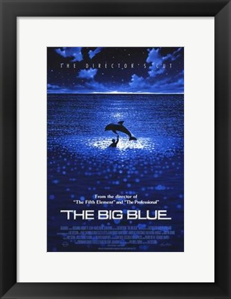 Framed Big Blue - Dolphin Print