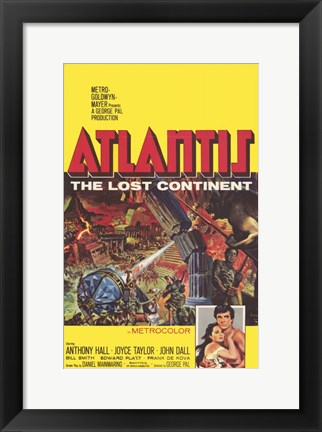 Framed Atlantis  the Lost Continent Print