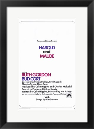 Framed Harold and Maude Print