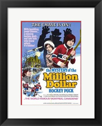 Framed Mystery of the Million Dollar Hockey Puc Print