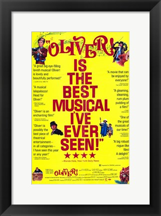Framed Oliver Best Musical Ever Print