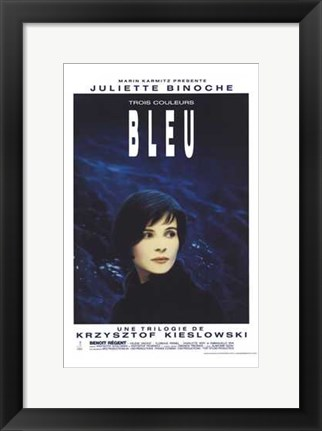 Framed Trois Couleurs: Bleu Film In French Print