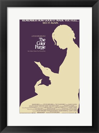 Framed Color Purple - see it again Print