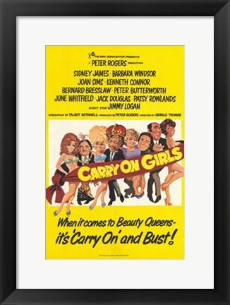 Framed Carry on Girls Print