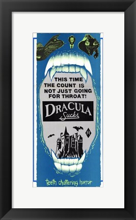 Framed Dracula Sucks, c.1979 Print