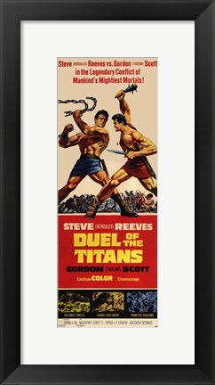 Framed Duel of the Titans Print